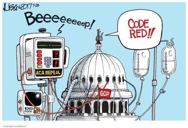 Cartoonist Lisa Benson  Lisa Benson's Editorial Cartoons 2017-07-28 Trumpcare
