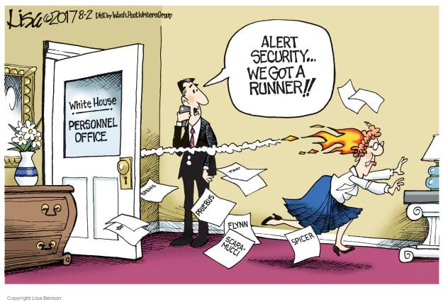 Cartoonist Lisa Benson  Lisa Benson's Editorial Cartoons 2017-08-02 presidential security