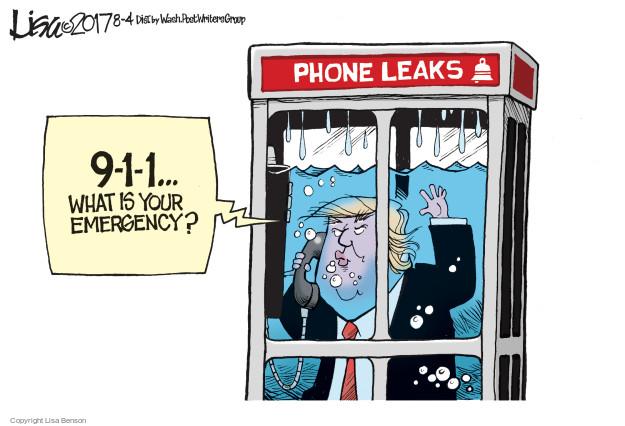 Cartoonist Lisa Benson  Lisa Benson's Editorial Cartoons 2017-08-04 presidential security