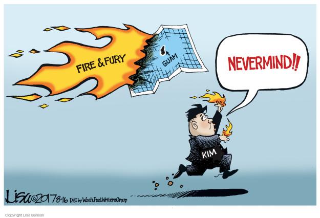 Cartoonist Lisa Benson  Lisa Benson's Editorial Cartoons 2017-08-16 Korean war