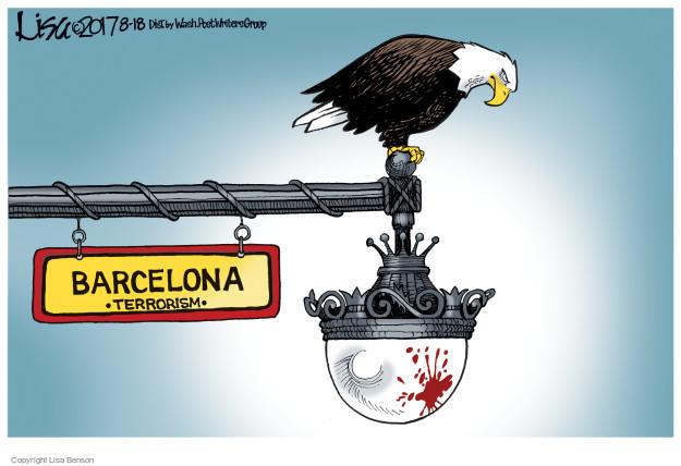 Cartoonist Lisa Benson  Lisa Benson's Editorial Cartoons 2017-08-18 attack