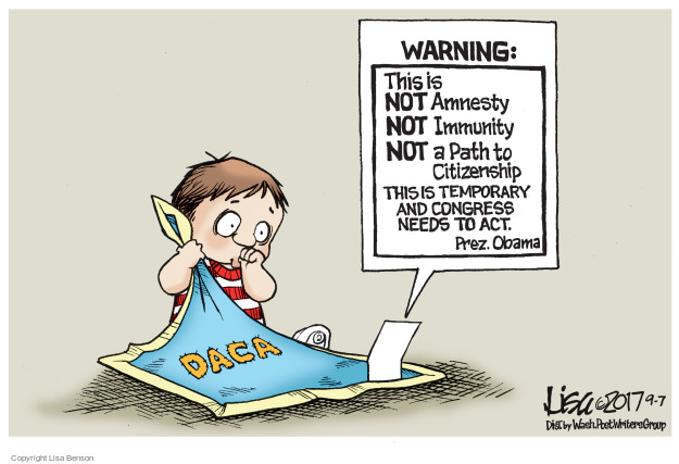 Warning: This is NOT Amnesty. NOT immunity. NOT a Path to Citizenship. This is temporary and Congress needs to act. Prez. Obama. DACA.