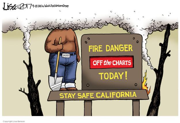 Lisa Benson  Lisa Benson's Editorial Cartoons 2017-09-08 danger