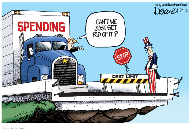Cartoonist Lisa Benson  Lisa Benson's Editorial Cartoons 2017-09-14 federal budget