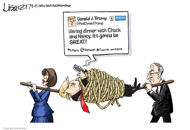Lisa Benson  Lisa Benson's Editorial Cartoons 2017-09-15 debt ceiling