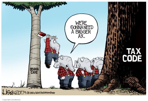 Cartoonist Lisa Benson  Lisa Benson's Editorial Cartoons 2017-09-28 Obama health care