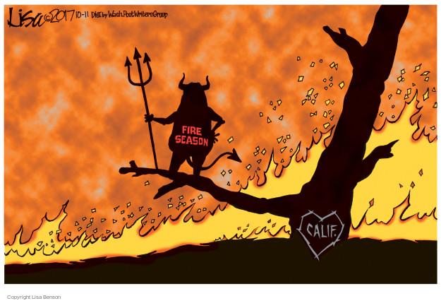 Cartoonist Lisa Benson  Lisa Benson's Editorial Cartoons 2017-10-11 destruction