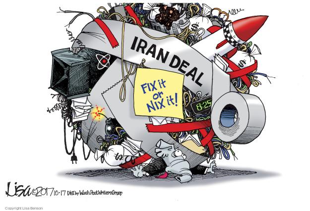 Cartoonist Lisa Benson  Lisa Benson's Editorial Cartoons 2017-10-17 nuclear