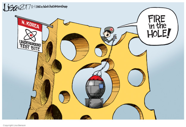 Cartoonist Lisa Benson  Lisa Benson's Editorial Cartoons 2017-11-01 nuclear
