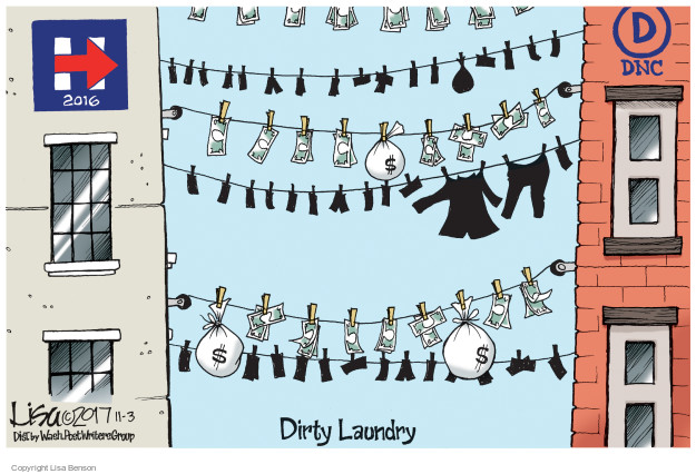 H 2016. D DNC. Dirty Laundry. $.