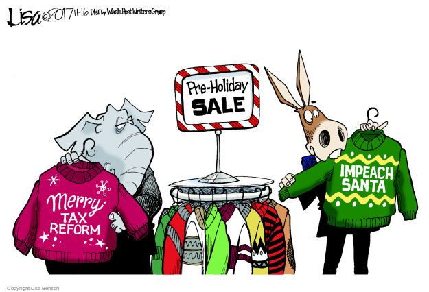 Pre-Holiday Sale. Merry Tax Reform. Impeach Santa.