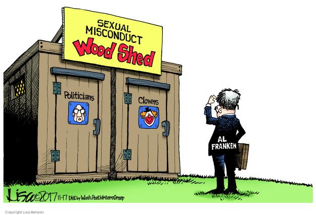 Cartoonist Lisa Benson  Lisa Benson's Editorial Cartoons 2017-11-17 politics