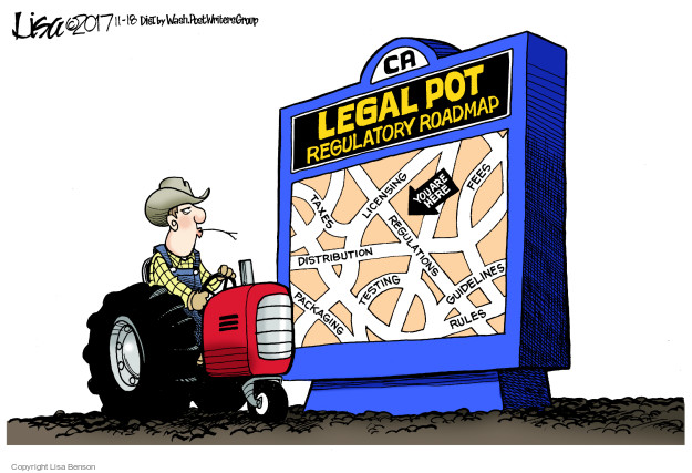 Lisa Benson  Lisa Benson's Editorial Cartoons 2017-11-18 farmer