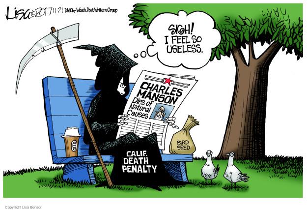 Lisa Benson  Lisa Benson's Editorial Cartoons 2017-11-21 death