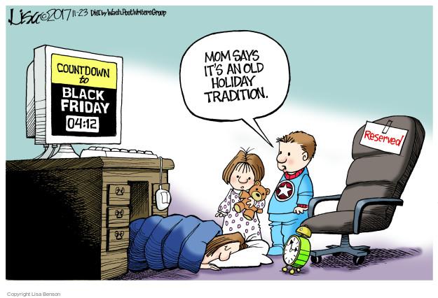 Cartoonist Lisa Benson  Lisa Benson's Editorial Cartoons 2017-11-23 Black Friday
