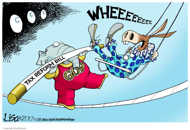 Cartoonist Lisa Benson  Lisa Benson's Editorial Cartoons 2017-11-28 partisan politics