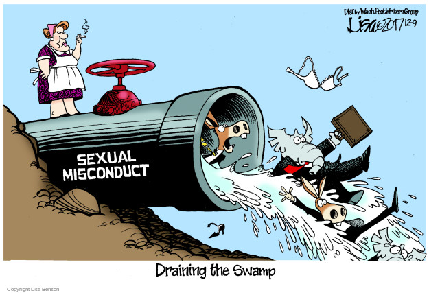 Sexual misconduct. Draining the Swamp.
