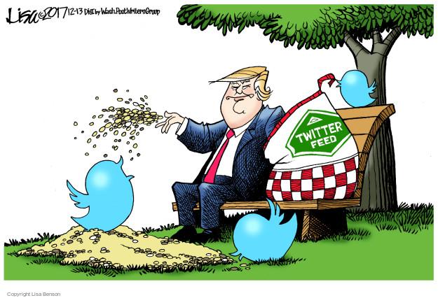 Cartoonist Lisa Benson  Lisa Benson's Editorial Cartoons 2017-12-13 social media politics