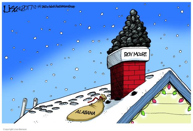 Cartoonist Lisa Benson  Lisa Benson's Editorial Cartoons 2017-12-14 republican candidate