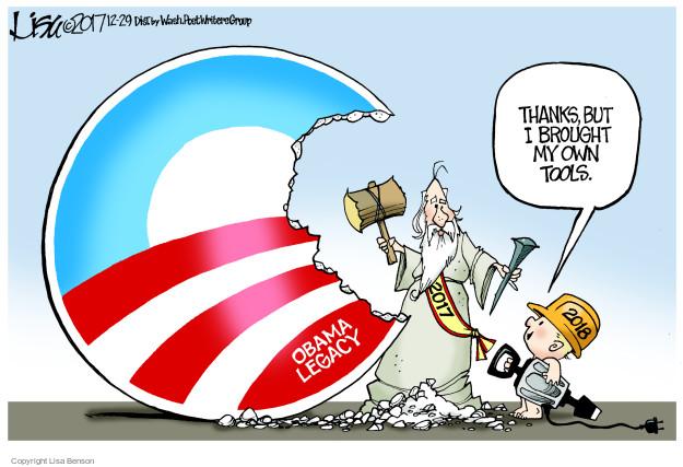 Lisa Benson  Lisa Benson's Editorial Cartoons 2017-12-29 Barack Obama