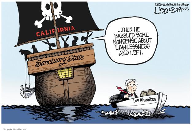 Cartoonist Lisa Benson  Lisa Benson's Editorial Cartoons 2018-03-23 immigrant