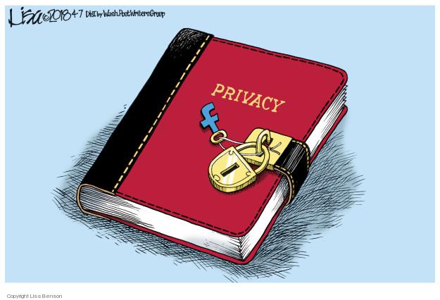 Cartoonist Lisa Benson  Lisa Benson's Editorial Cartoons 2018-04-07 social media politics