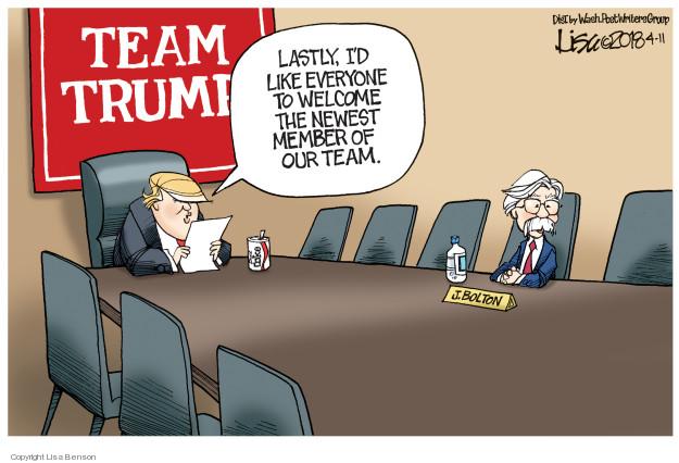 Cartoonist Lisa Benson  Lisa Benson's Editorial Cartoons 2018-04-11 national security