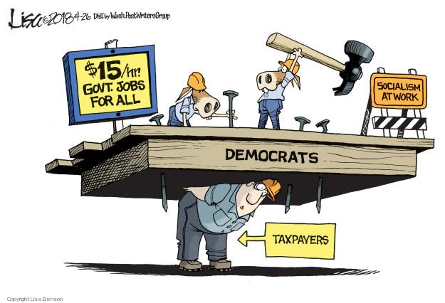 Cartoonist Lisa Benson  Lisa Benson's Editorial Cartoons 2018-04-26 minimum tax