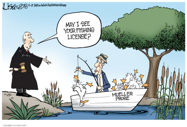 May I see your fishing license? Mueller probe.