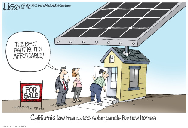 The best part is, its affordable! For sale. California law mandates solar panels for new homes.