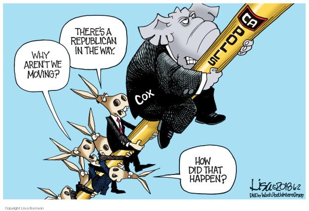 Cartoonist Lisa Benson  Lisa Benson's Editorial Cartoons 2018-06-02 California election