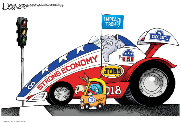 Cartoonist Lisa Benson  Lisa Benson's Editorial Cartoons 2018-06-05 Donald Trump taxes