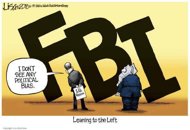 FBI. I dont see any political bias. I.G. Report. Leaning to the Left.