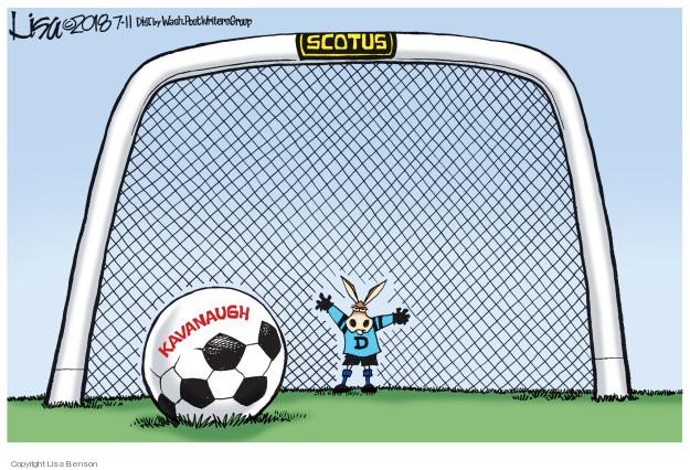 Lisa Benson  Lisa Benson's Editorial Cartoons 2018-07-11 supreme court nominee