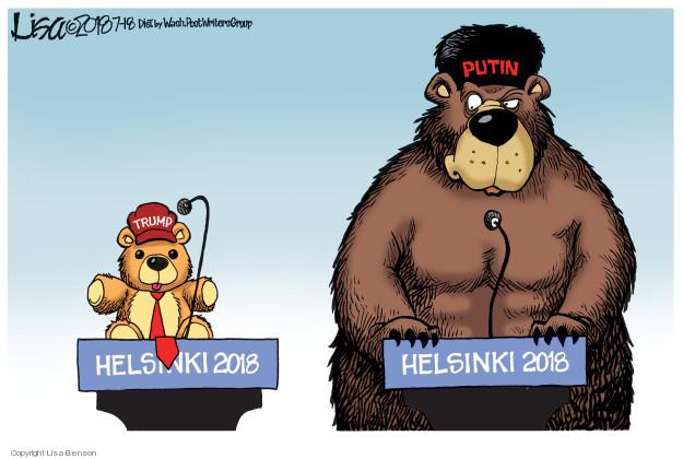Cartoonist Lisa Benson  Lisa Benson's Editorial Cartoons 2018-07-18 international politics