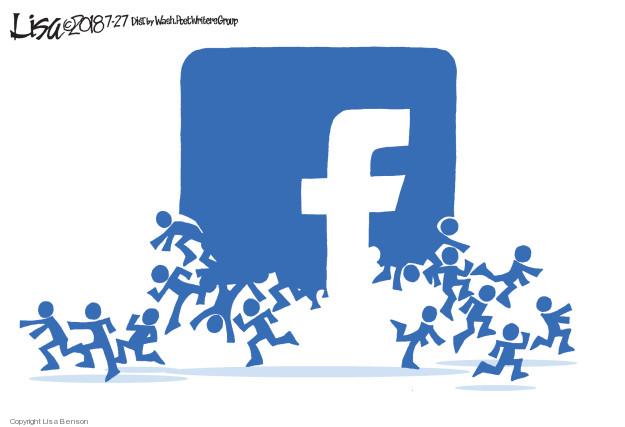 Cartoonist Lisa Benson  Lisa Benson's Editorial Cartoons 2018-07-27 social media politics