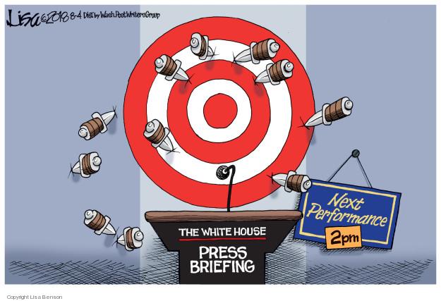 Cartoonist Lisa Benson  Lisa Benson's Editorial Cartoons 2018-08-04 Donald Trump media