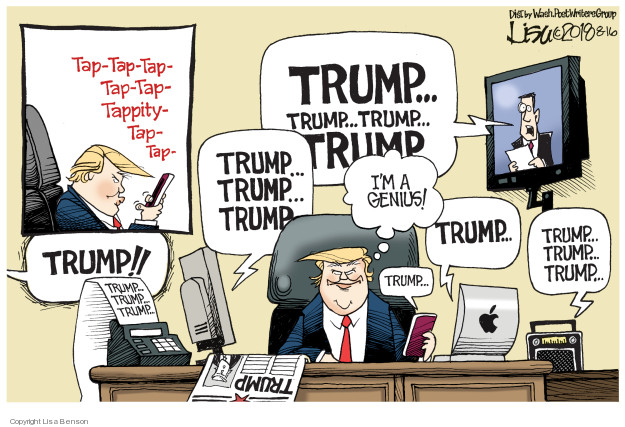 Cartoonist Lisa Benson  Lisa Benson's Editorial Cartoons 2018-08-16 reporter
