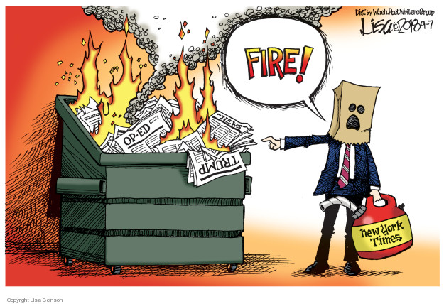 Cartoonist Lisa Benson  Lisa Benson's Editorial Cartoons 2018-09-07 Donald Trump media