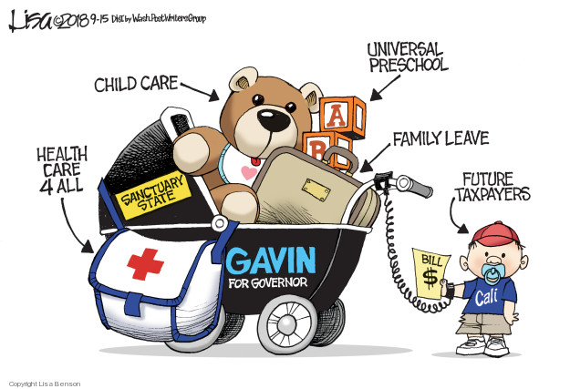 Lisa Benson  Lisa Benson's Editorial Cartoons 2018-09-15 medical insurance
