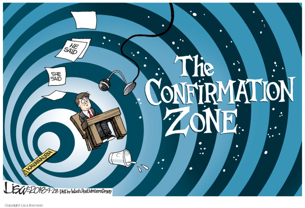 Lisa Benson  Lisa Benson's Editorial Cartoons 2018-09-28 supreme court nominee