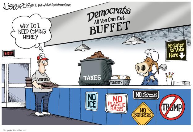 Cartoonist Lisa Benson  Lisa Benson's Editorial Cartoons 2018-10-06 Donald Trump taxes