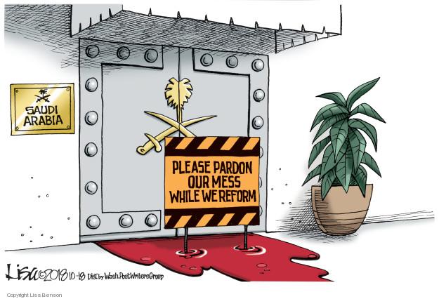 Saudi Arabia. Please pardon our mess while we reform.