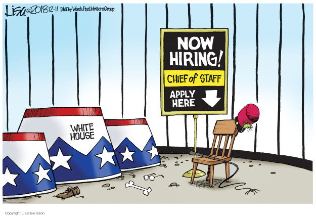 Now hiring! Chief of Staff. Apply here. White House.