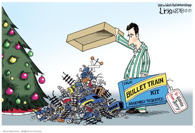 Cartoonist Lisa Benson  Lisa Benson's Editorial Cartoons 2018-12-21 train