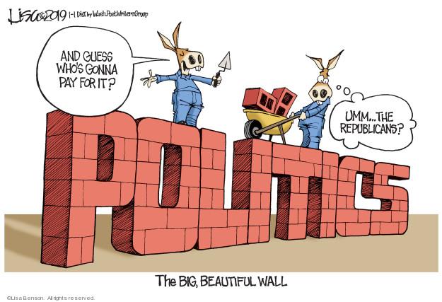 Cartoonist Lisa Benson  Lisa Benson's Editorial Cartoons 2019-01-01 legislative branch