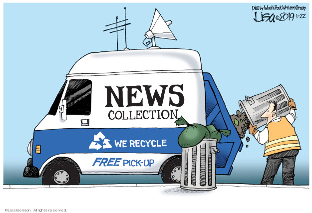 News collection. We recycle. Free pick-up.