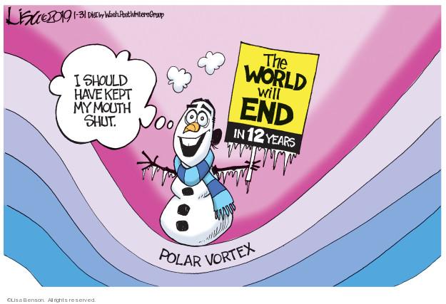 Lisa Benson  Lisa Benson's Editorial Cartoons 2019-01-31 arctic