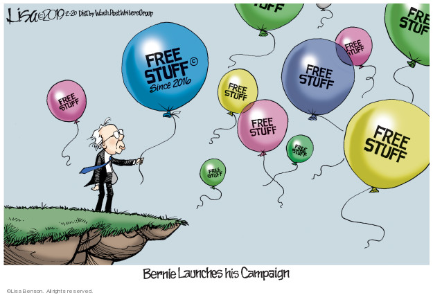 Lisa Benson  Lisa Benson's Editorial Cartoons 2019-02-20 2016 Election Bernie Sanders