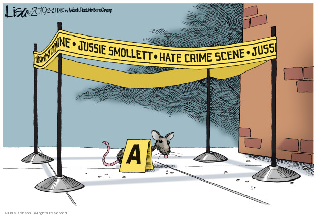 Cartoonist Lisa Benson  Lisa Benson's Editorial Cartoons 2019-02-21 crime